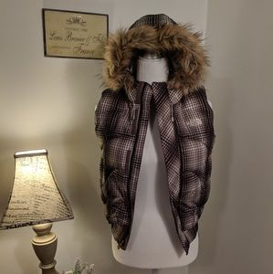 The North Face Plaid Puffer Vest